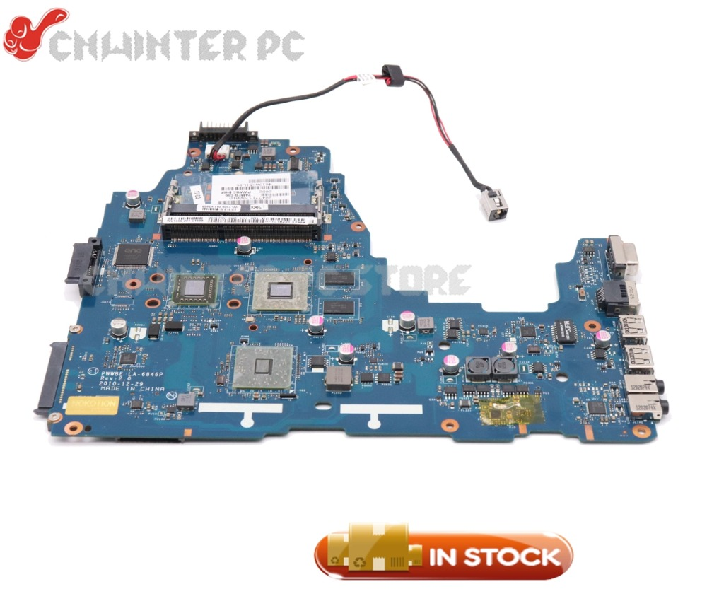 все цены на NOKOTION K000124450 LA-6846P MAIN BOARD For Toshiba Satellite C660 C660D Laptop Motherboard E450 CPU DDR3 HD6330M Video card онлайн