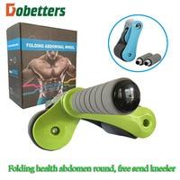 Fold healthy abdomen round mute household multifunctional double wheel healthy abdominal organ sport abs wheel gear Ab Rollers