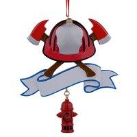 Großhandel Feuerwehrmann Personalisierte Polyresin Weihnachten Ornament Als Für Urlaub Feuer Festival Geschenke