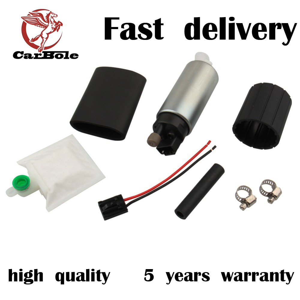 CARBOLE 13.8V High performance walbro fuel pump gss342 internal intank 255LPH fuel pump for Nissan& Honda Subar and racing car