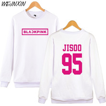 WEJNXIN KPOP BLACKPINK Album Pullover Hoodies Women JENNIE ROSE LISA JISOO Sweatshirt Hip Hop Black Pink Hoodie Sudadera(China)