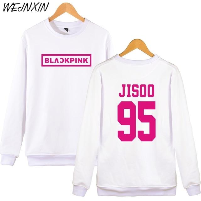 Wejnxin Kpop Blackpink Album Pullover Hoodies Frauen Jennie Rose