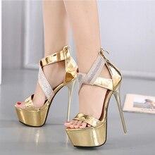 bcc8d045cf49 Pasek kostki obcasy platformy sandały buty i zabawy dla kobiet złota sandały  kobiety czółenka wysokie obcasy