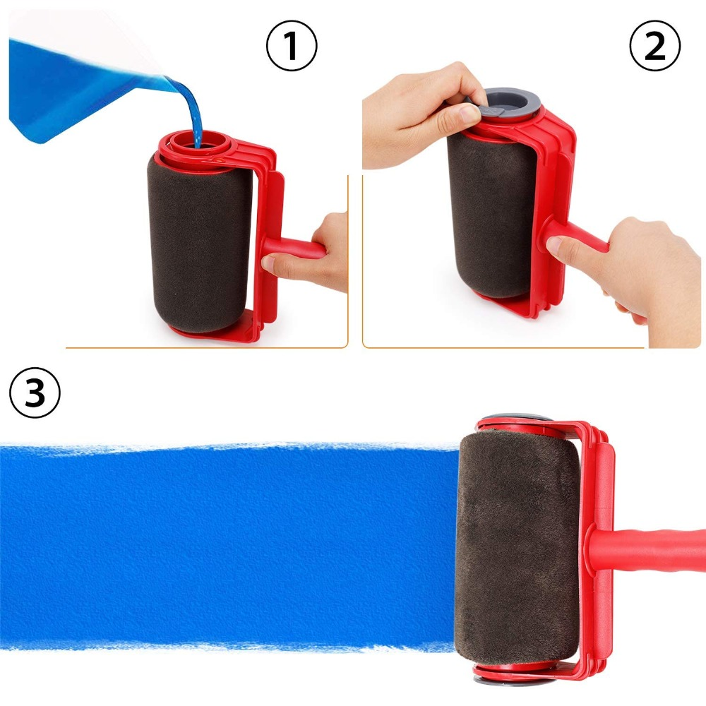 8pcs Seamless paint roller pro brush set Paint Runner paint runner roller Wall Painting for Home Office Building Wall Paint Roll in Brush from Tools