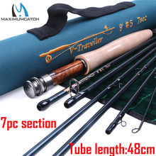 Maximumcatch Traveller Fly Fishing Rod 7sec IM10 30T 40T Carbon Fiber Fast Action with Cordura Tube
