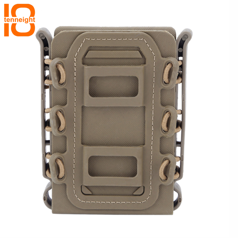 TENNEIGHT Tactical MOLLE accessory bag Outdoor Hunting Ammo Clip Pouch Cartridge tool bag 5.56 Military Airsoft Magazine Pouch