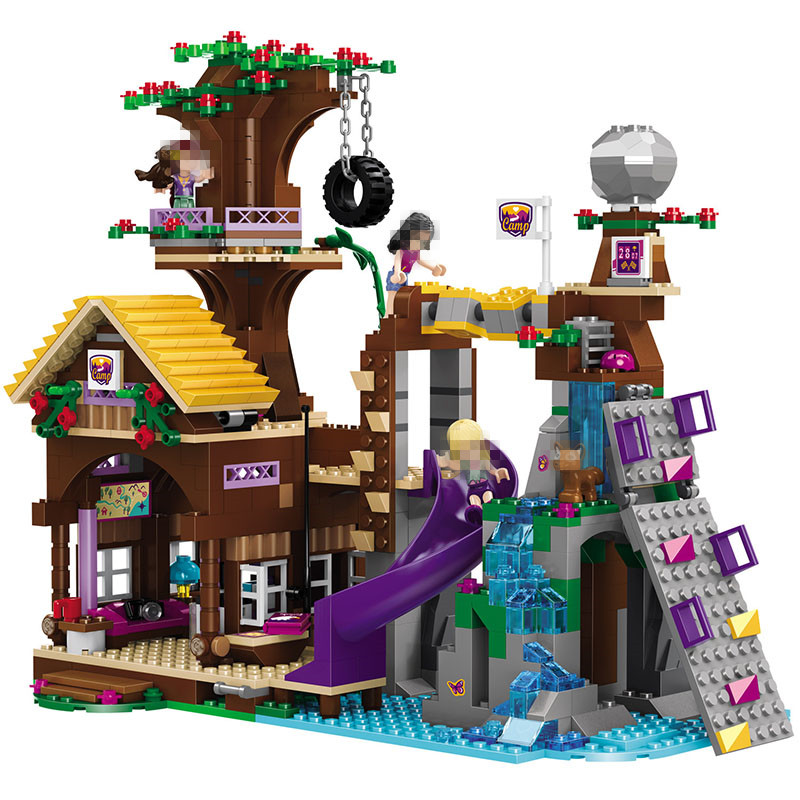 BELA Building Bricks Compatible with Legoooo Friends Blocks Adventure Camp Tree House Emma Mia Figure Toy For Children 890pcs city police station building bricks blocks emma mia figure enlighten toy for children girls boys gift