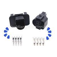 Pa66 4 핀 암 자동 밀봉 와이어 하네스 전자 커넥터 DJ70450-3.5-11/21 4 p