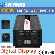 4000W pure sine wave solar power inverter DC 12V 24V 48V to AC 110V 220V digital display