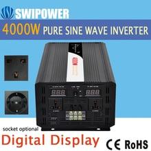 Inversor de energía solar onda sinusoidal pura 4000W cc 12V 24V 48V a CA 110V 220V pantalla digital