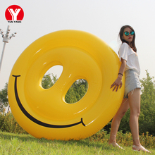 160cm Giant Inflatable Emoji Pool Float Swimming Ring Water Toys Rings for Women