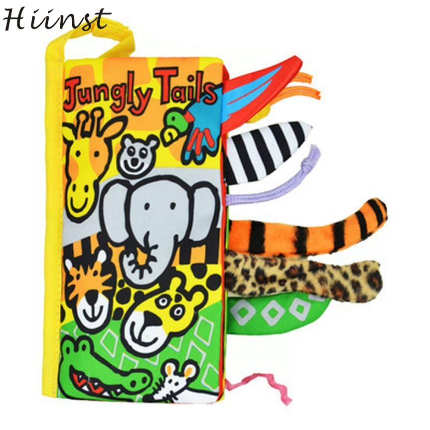 HIINST Modern Cloth Book Soft Quiet Book for Baby Children Toddler Toy Cloth Animal Jungle Tail Learning Education RE21