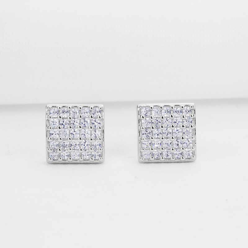 Pendientes de plata de ley 925 para mujer, joyería de Navidad, pendientes Push-Back de plata auténtica, pendientes de ley para mujer
