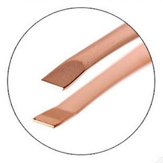 1Pc Pearl Gold Stainless Steel Epilation Eyebrow Tweezers Clip Nose Tweezers Eyebrow Beauty Makeup Tools 5