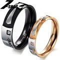 Fashion Cross Titanium Womens Men Ring Elegant Couple Wholesale Price PURE LOVE 356