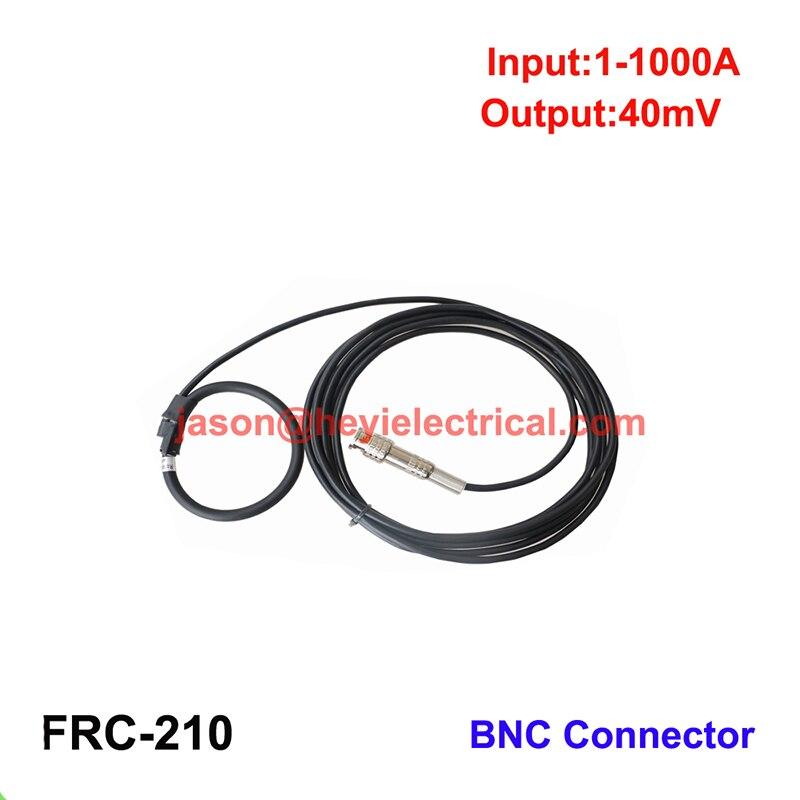 Entrada 1000A FRC-210 bobina de rogowski flexível com conector BNC saída 40mV dividir núcleo transformador de corrente