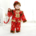 Cotton Children Tang Suits Winter Spring Thickened with Velvet New Year Clothing for 0-3 Y Baby 3pcs Sets Baby Birthday Gifts