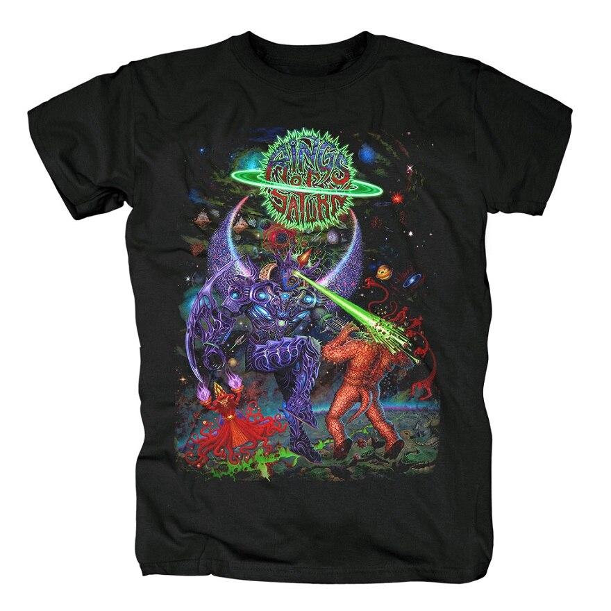 15 дизайнерских колец Сатурн инопланетянин группа рок брендовая рубашка Hardrock heavy thrash Metal deathcore хлопковая Футболка camiseta уличная одежда - Цвет: 11