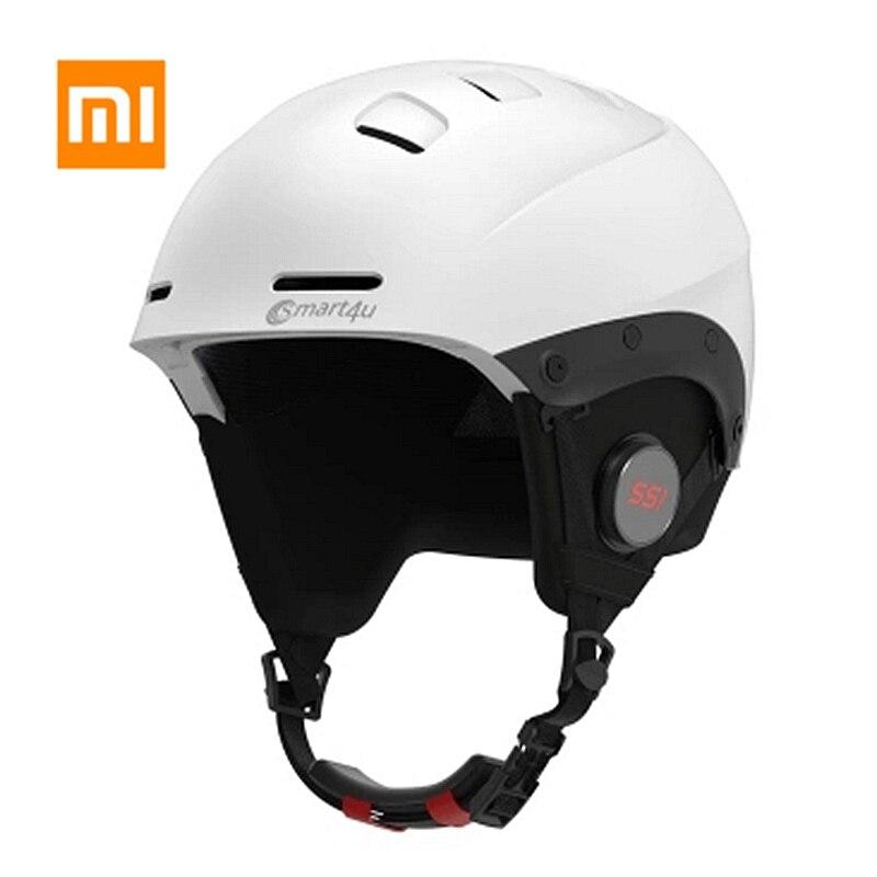 Besorgt Original Xiaomi Mijia Drahtlose Bluetooth Ski Helm Motorrad Motorrad Skifahren Helm Moto Frauen Männer Wasserdichte Casque Capacete