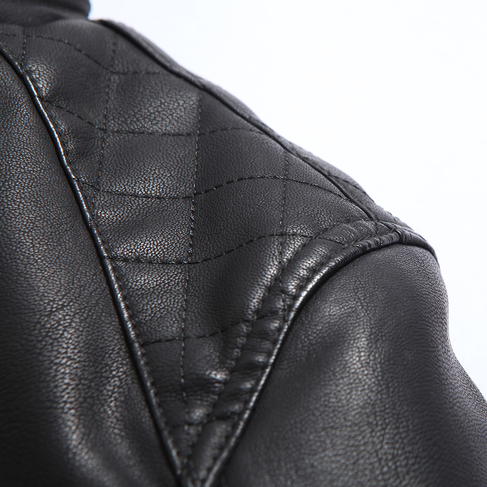 jaqueta de couro lelaki lelaki kulit jaket kulit bulu jaket kulit - Pakaian lelaki - Foto 5
