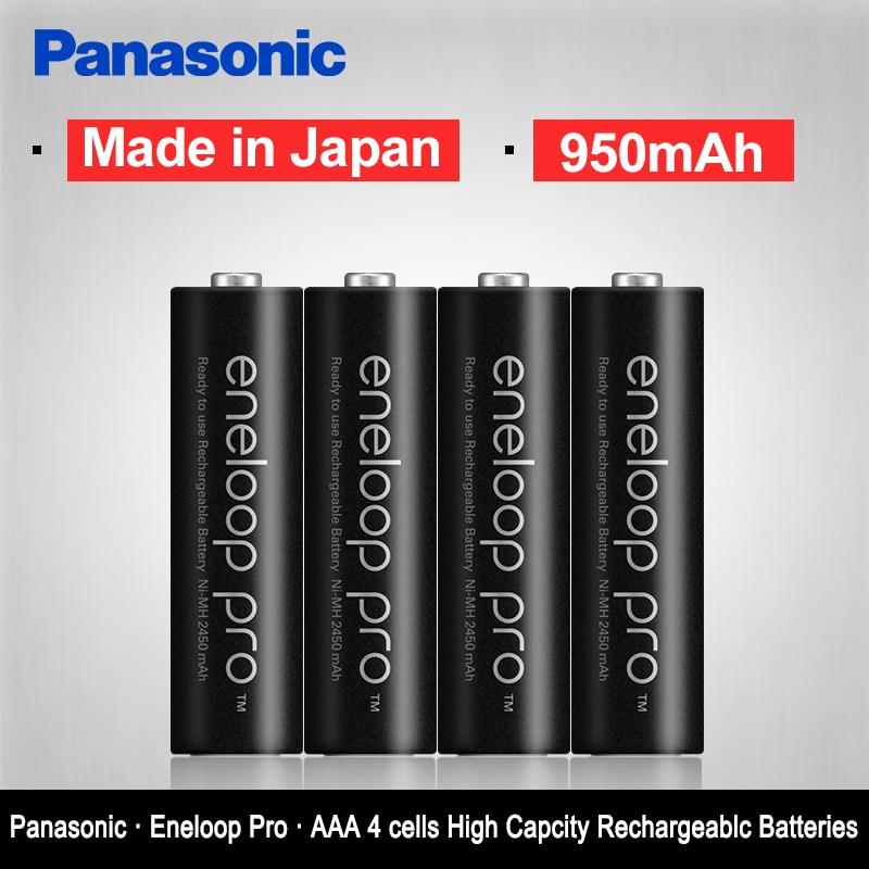 Original Panasonic 4 pçs/lote Eneloop AAA Baterias 1.2V 950mAh Ni-MH Recarregável Pré-Carregada Bateria eneloop Frete Grátis