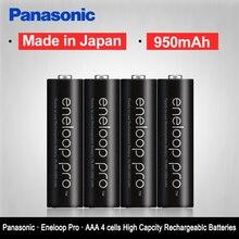 Original Panasonic Eneloop 4PCS/LOT AAA Pre Charged Rechargeable Batteries 1.2V 950mAh Ni MH Battery eneloop Free Shipping