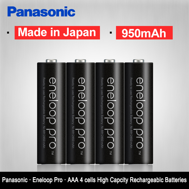 Original Panasonic Hot Sell 4PCS/LOT AAA Pre-Charged Rechargeable Batteries 1.2V 950mAh Ni-MH Battery eneloop Free Shipping