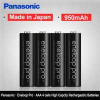 Original Panasonic Eneloop 4 PCS/LOT piles rechargeables pré-chargées AAA 1.2V 950mAh Ni-MH batterie eneloop livraison gratuite
