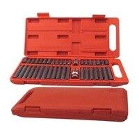 뜨거운 40Pcs 1/2 인치 및 3/8 인치 드라이브 별 Torx 스플라인 육각 비트 소켓 세트 도구 키트|kit garrett|kit screwtool kit price -