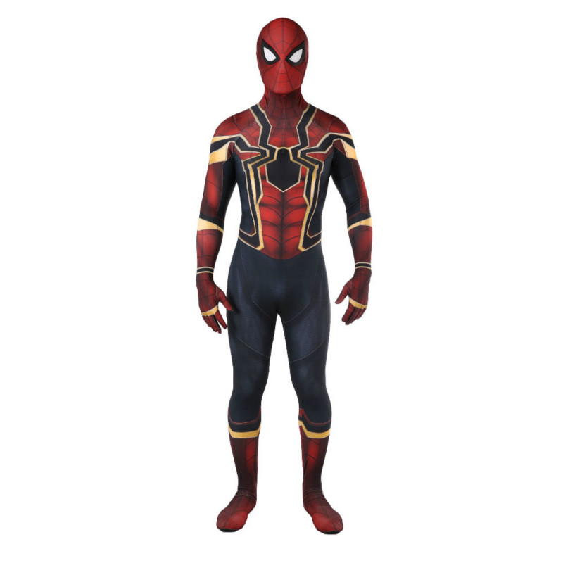2018 New Avengers:Infinity War Spider Man Cosplay Tights Spider-Man Superhero Costume Halloween Cosplay Bodysuit For Adult Kids
