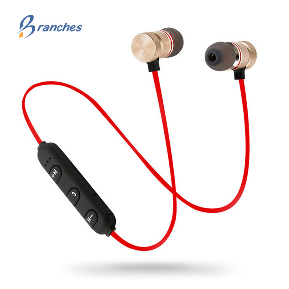 Bass Bluetooth Earphone Wireless Earphones With Mic Magnetic headphone bluetooh Headset For Mobile Phone bluetooth kulakl new 2016 original linx lx bl11 bluetooth wireless earphone headphone for mobile phone headset headphone free shipping