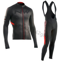 NW 2019 Pro Cycling Jersey Set Spring Long Sleeve MTB Bike Uniform Breathable Road Bicycle Jerseys triathlon Cycling Clothing