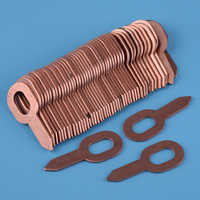 DWCX 50pcs Copper Plated Dent Puller Rings for Spot Welding Soldering Car Body Panel Washer 55.5mm Removal Repair Tool