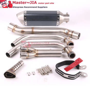 R25 R3 MT-03 MT03  Motorcycle Exhaust Full system muffler FOR Yamaha R25 R30 2014-2016 with exhaust slip-on