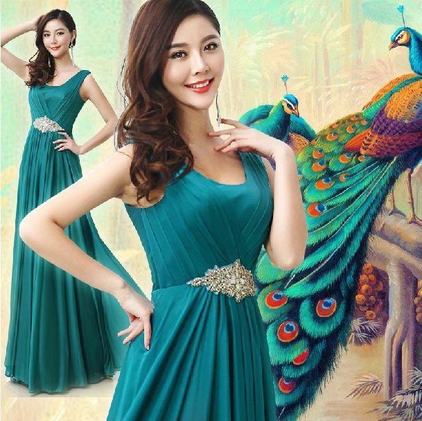 Popular Peacock Bridesmaid Dresses-Buy Cheap Peacock Bridesmaid ...