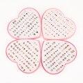 Многоцветный Cryatal 36 пар детских носков с рисунком, гипоаллергенный пластиковые серьги-гвоздики Комплект сережек для женщин на свадьбу для д...