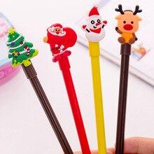 40 יחידות ג ל עט קריקטורה חג המולד ניטראלי עט לכתיבה תלמיד משרד עטי מכתבים סיטונאי מתנות בעלי החיים נייח ילדים