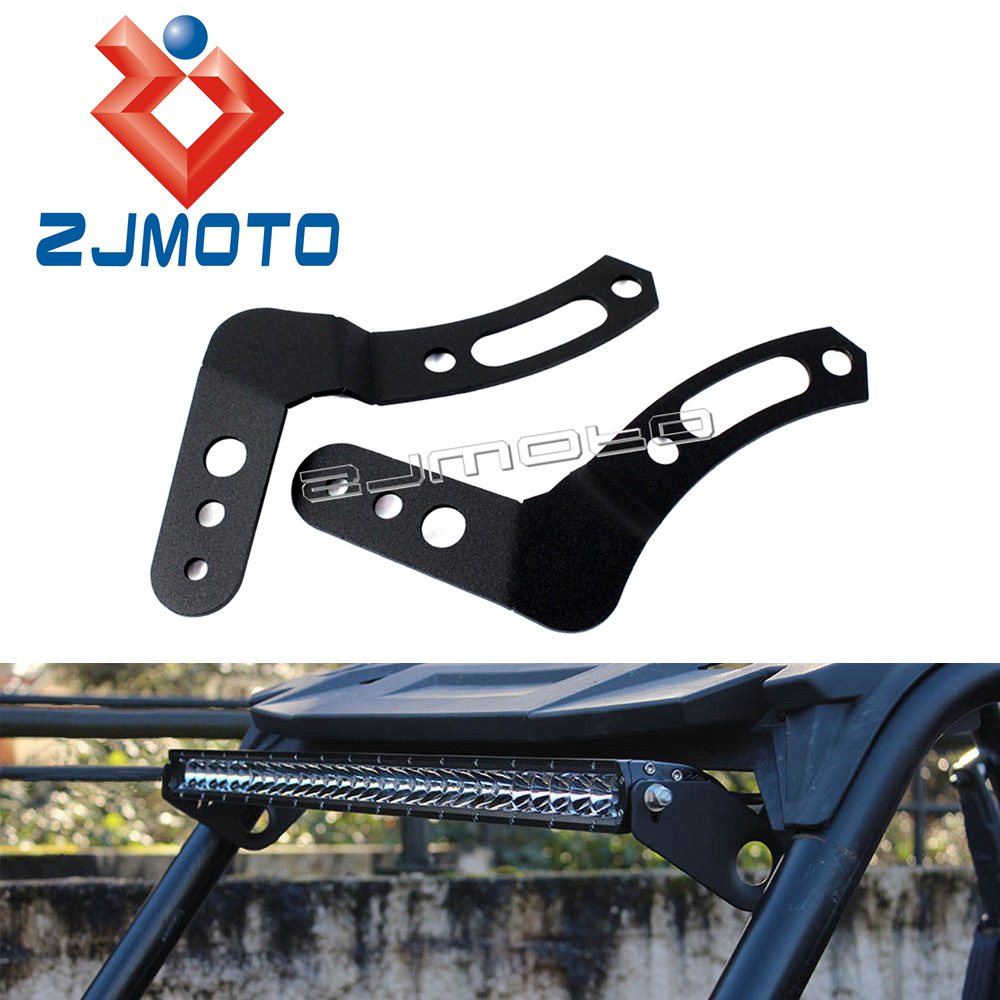 Clamp Mount LED Light Bar Brackets for Aftermarket Roll Cage Polaris RZR XP1000