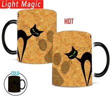 crazy cat mom mug 350ml magic ceramic Coffee Mugs Novelty Heat Changing Color Transforming Tea Mugs cup