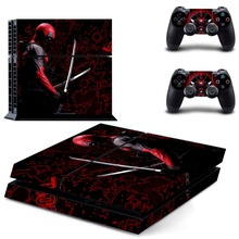Marvel Deadpool Film PS4 Skin Sticker Decal Vinyl for Playstation 4 Console and 2 Controllers PS4 Sticker