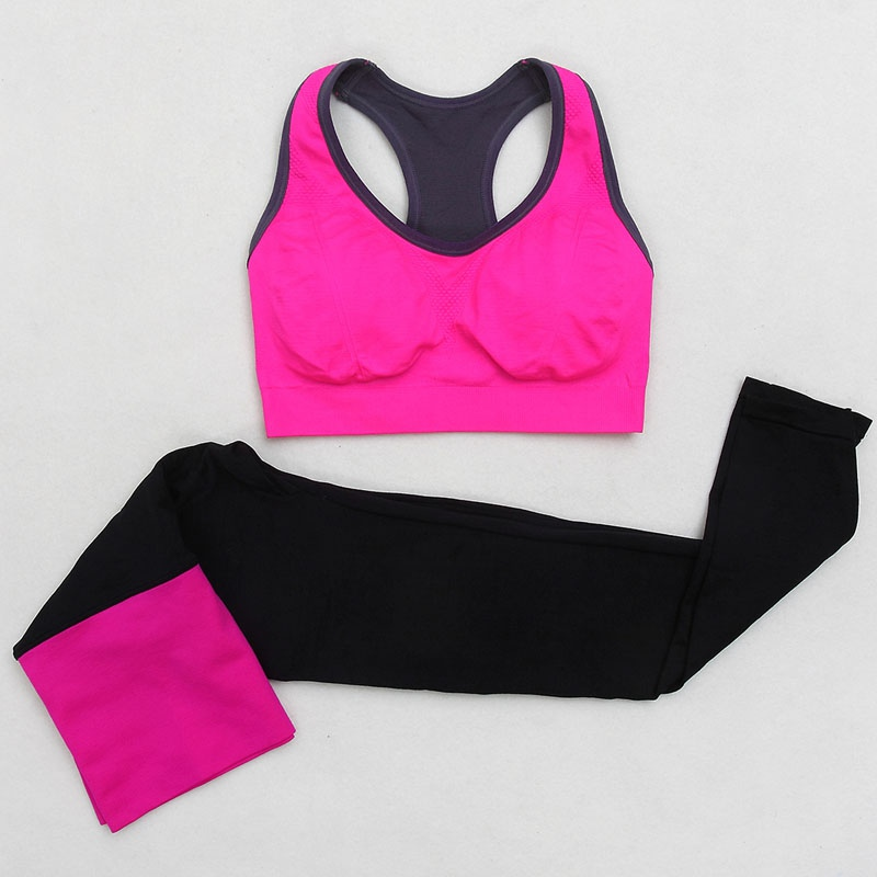 Suits & Sets Women's Sets S72 Women Seamless Bra+pants Leggings Set Fitness Workout Tracksuit