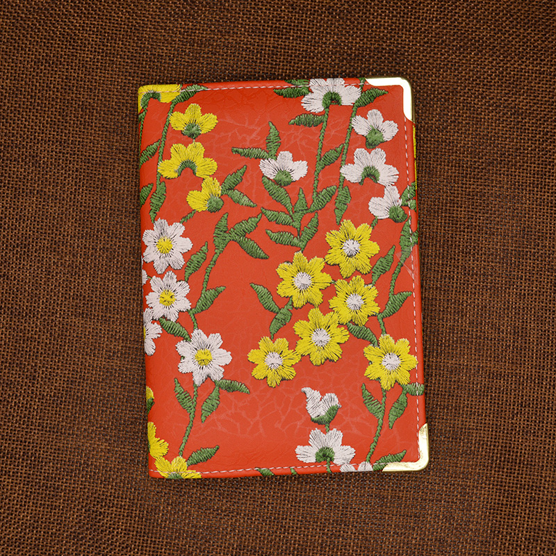 Retro Floral Prints With Card Holder Women Passport Cover