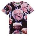 2017  casual Bernie Sanders hiphop male concert shirt O-neck sweatshirt 3d print women/men cartoon pullover summer TeesT-shirts