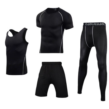 Men Sportswear Compression Sport Suits Quick Dry Running Sets Clothes Sports Joggers Training Gym Fitness Tracksuits Running Set 11