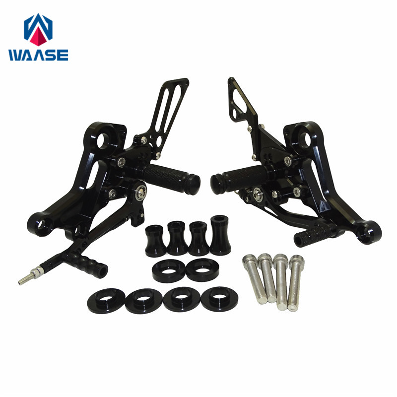 waase Adjustable Rider Rearsets Rearset Footrest Foot Rest Pegs For Ducati Monster 696 795 796 1100