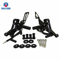 waase Adjustable Rider Rearsets Rearset Footrest Foot Rest Pegs For Ducati Monster 696 795 796 1100 EVO