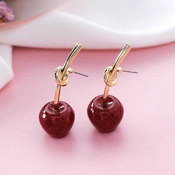 Dominated 2019 New Simple Sweet Metal Knotted Women Drop earrings Personality joker Resin cherry long earrings.jpg 350x350 - Dominated 2019 New Simple Sweet Metal Knotted Women Drop earrings Personality joker Resin cherry long earrings