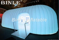 10mLx3mWx2.5mH outdoor large inflatable dome tent with led light giant inflatable pod meeting room for party events