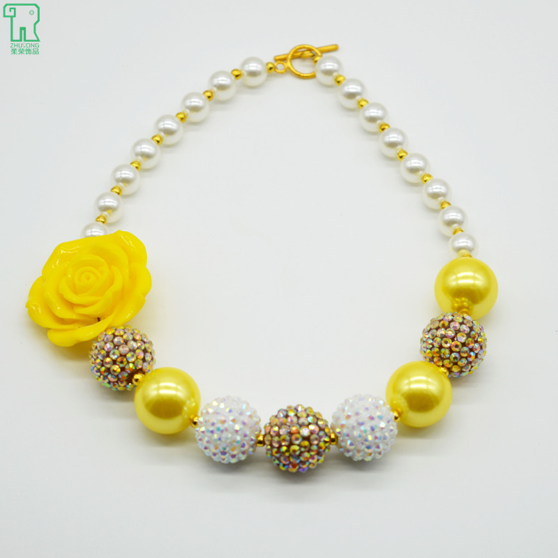 Girls chunky yellow flower necklace white gold kids bubblegum beads girls chunky yellow flower necklace white gold kids bubblegum beads choker child pearl jewelry girls chunky flower necklace on aliexpress alibaba mightylinksfo Choice Image