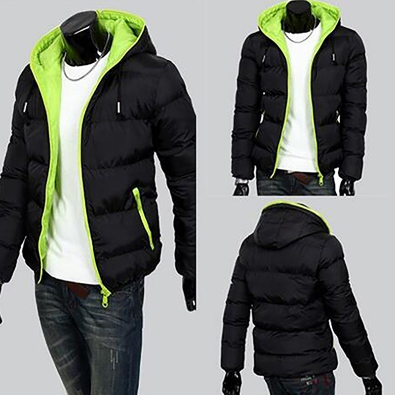 2018 New Jackets Men Winter Casual Outwear Windbreaker Jaqueta Masculino Solid Slim Fit Hooded Fashion Overcoats Homme Plus Size(China)